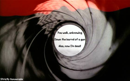 Dr No: Gun Barrel Haiku by Scott Sandwich